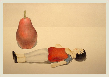 Doll with red pear