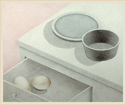 Still life with drawer